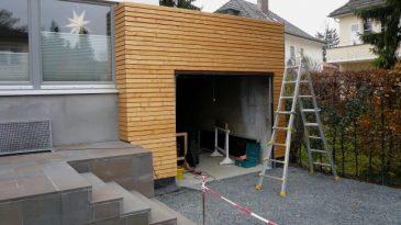 Garage in Holzbauweise.